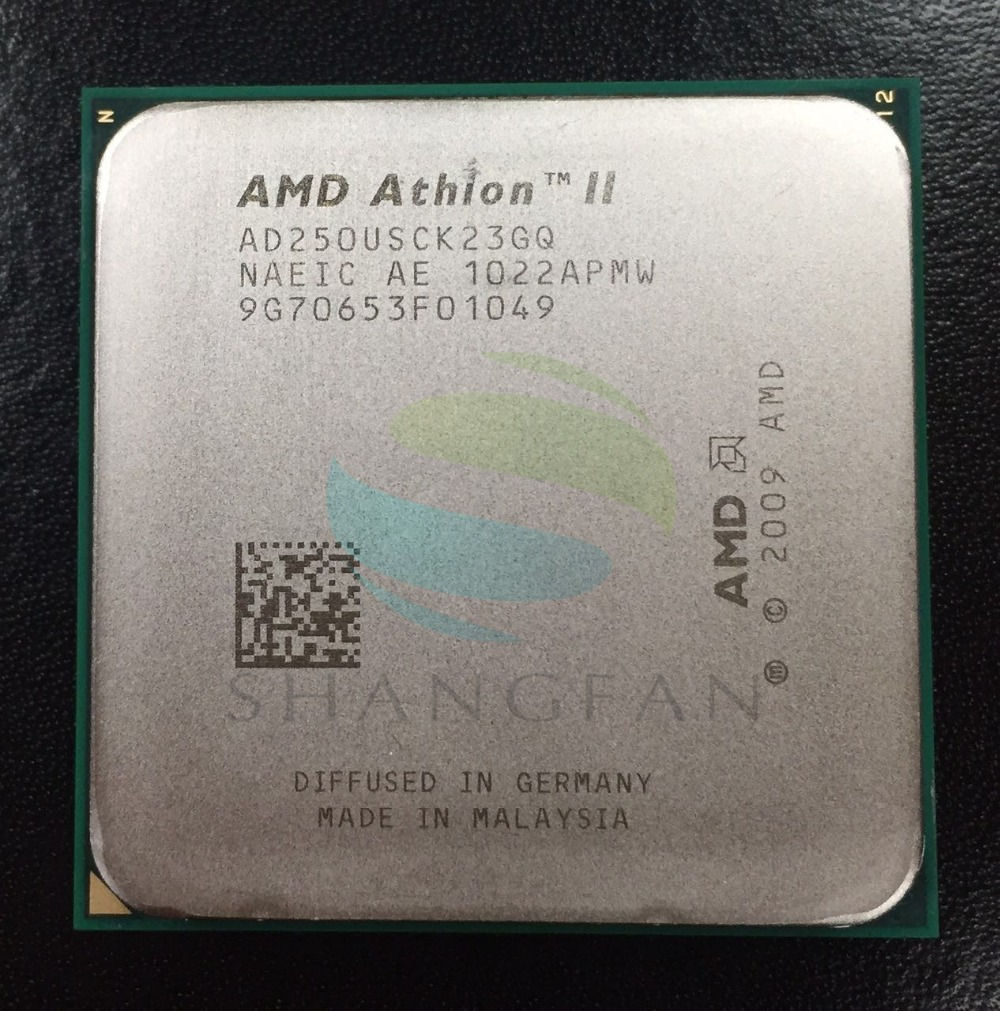 AMD Athlon X2 250u 1.6 GHz Dual-Core CPU Processeur AD250USCK23GQ 25 W Socket AM3 938pin