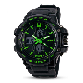 Digital & Analog Alarm Waterproof Wristwatch 1