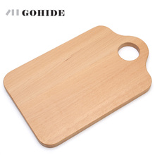 JUH Natural Wood Chopping Board Rectangular Small Fruit Bread Plate Baby Food Supplement Kitchen Chopping Board Tools
