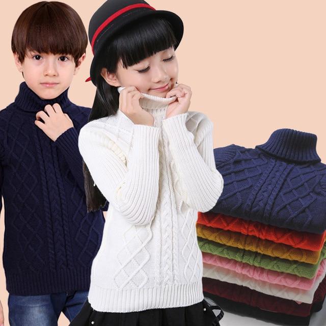 90f383be278c Children Baby Boys Sweater Turtleneck Sweater Stripe Cottons Girls ...
