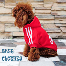 2016 New Fashion Pet Product Dog Clothes Hoodies Coat with Hat 6 Color Pink Red Yellow XS-XXL Summer Spring Winter Cotton