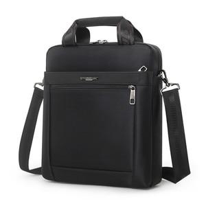 Image 4 - Men Small Briefcase Vertical Document Pack Mens Single Shoulder 12 inch IPAD Bag Male Waterproof Nylon Messenger Bag Sac Homme
