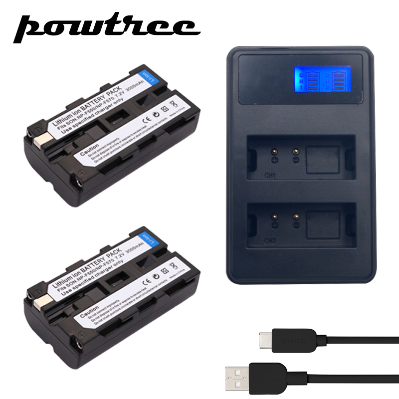 2x Batteries + NP-F530 NP F330 F550 F570 Chargeur pour Sony NP-F570 CCD-SC55 CCD-TRV81 DCR-TRV210 MVC-FD81 NP-F730 NP-F750 Hi-8