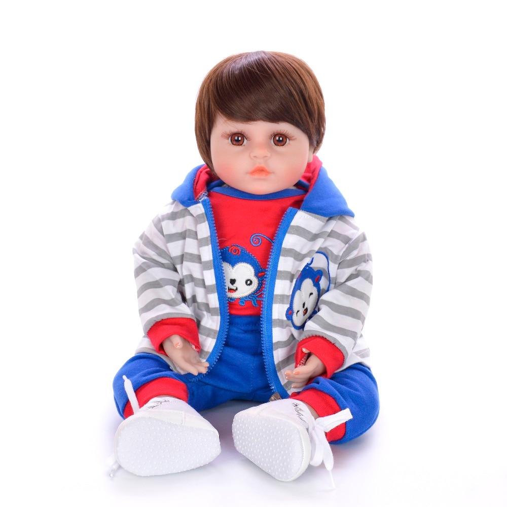 48 cm bébé reborn bambin silicone poupées jouets 18