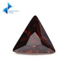 50 шт треугольные фианиты для ювелирных изделий 5 А 3x3 10x10