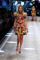 Высокое качество одежда высокого качества Для женщин модное летнее платье с круглым вырезом Милая Printe с пышными рукавами мини платье