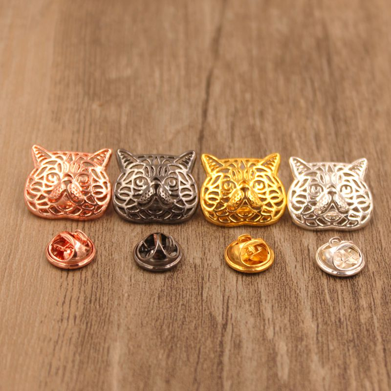 Mdogm 2018 Exotic Shorthair Cat Animal Brooches And Pins Coat Suit Metal Small Father Collar Badges For Male Men Wholesale BT004