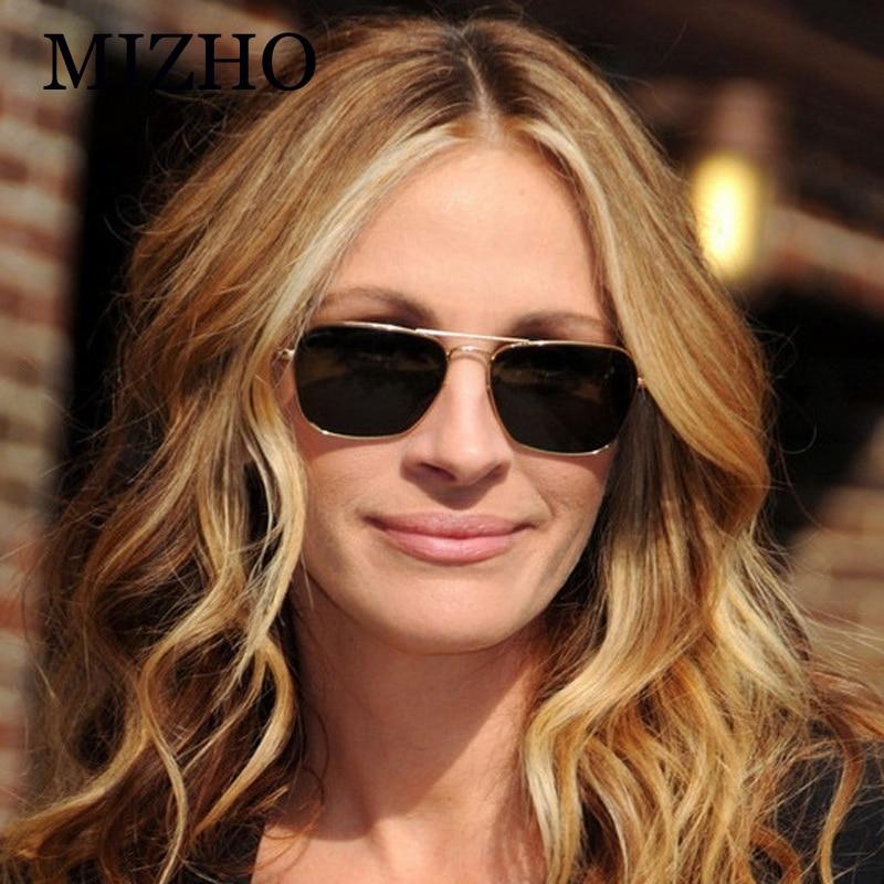 2a1d523d711 MIZHO Celebrity Eyewear Green Lens Unisex Cheap Metal Sunglasses Men Mirror  Brand Yellow Sun Glasses Women Original 2019-in Sunglasses from Apparel ...
