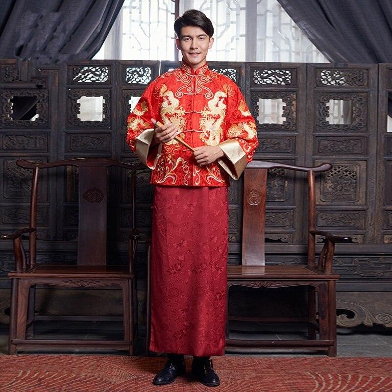Traditional chinese dress men male traditional chinese clothing men wedding cheongsam coat male jacket KK2422