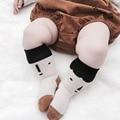 BBK Otoño 2016 Pequeños calcetines de bebé de Algodón Bebé de Algodón Impreso Cara Linda antideslizante Soft Rodilla Calcetines de niños y Medias de las muchachas niños