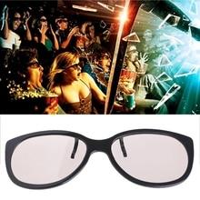 Круглые Пассивные Поляризационные 3D очки с клипсой для ТВ реального 3D кинотеатра 0,22 мм