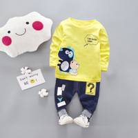 Baby Girl Clothes Spring Korean Leisure Cartoon long sleeve Top + Shorts 2PCS Kids Bebes Jogging Suit Tracksuits Baby Boy Clothe