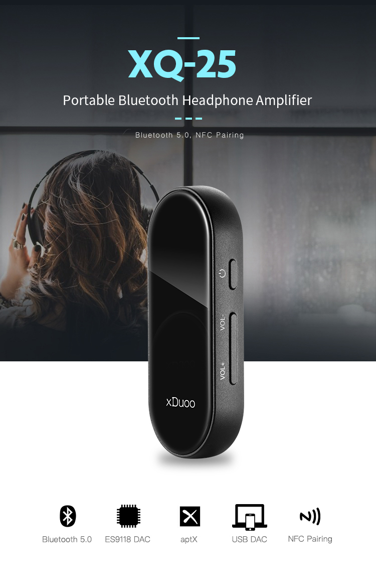 XDUOO XQ-25 Original Portable Bluetooth 5.0 aptX Headphone Amplifier_01