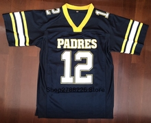 Tom Brady  12 American Football Jersey Junipero Serra Padres High School  Jersey Throwback Stitched Blue e27405122
