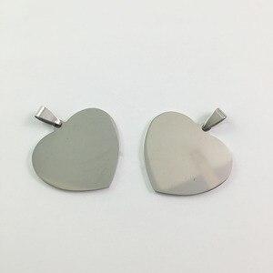 Подвеска из нержавеющей стали в форме сердца, 50 шт./лот