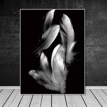 Wall art pictures canvas painting no frame decor poster art prints Feather on canvas Wall Picture decoration for living room(China)