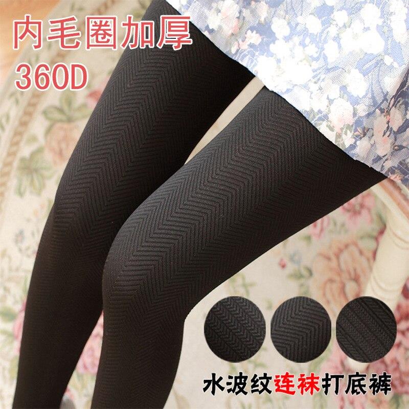 2018 Fashion Ripple Pantyhose Women 120D Velvet Stockings Slim Seamless Stockings Anti-hook Tights Women Stockings Hosiery