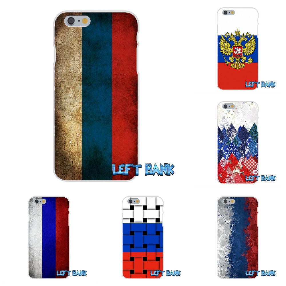 For iPhone 4 4S 5 5S 5C SE 6 6S 7 Plus Russia Flag national Emblem Soft Silicone TPU Transparent Cover Case