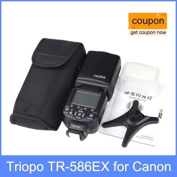 Galleria fotografica Nouveau Triopo TR-586EX Sans Fil Flash Mode TTL Flash Speedlight Speedlite Pour Canon EOS 550D 60D 5D Mark II comme YONGNUO YN-568EX II