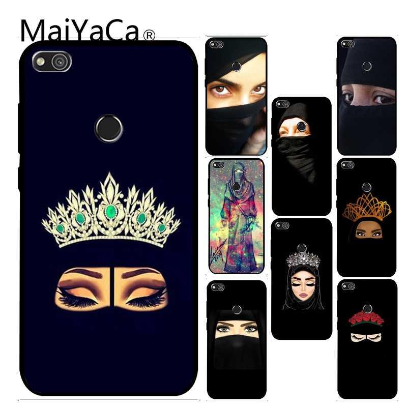 MaiYaCa Muslim islamic gril eyes Gift Original Phone case cover For Huawei P6 P7 P8 P9 P10 Mobile Phone Case