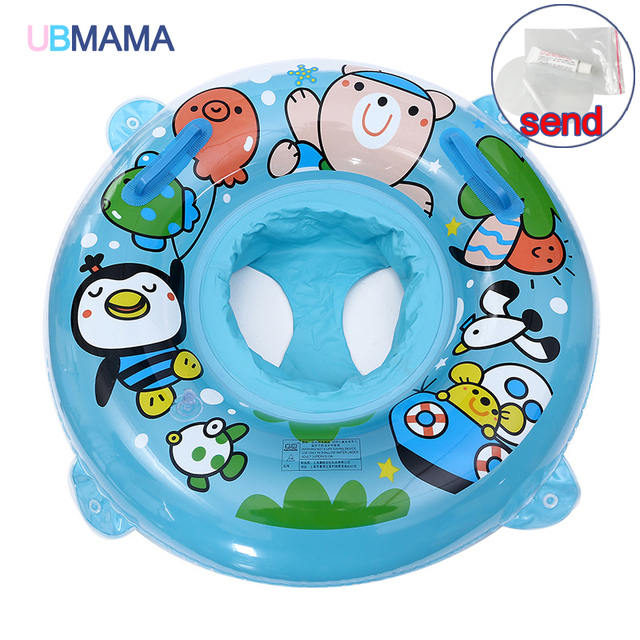 For Kids 6 Months To 2 Years Old Baby Crab Float Infant Inflatable Seat Cartoon Animal Children Fun Water Toy Kickboard