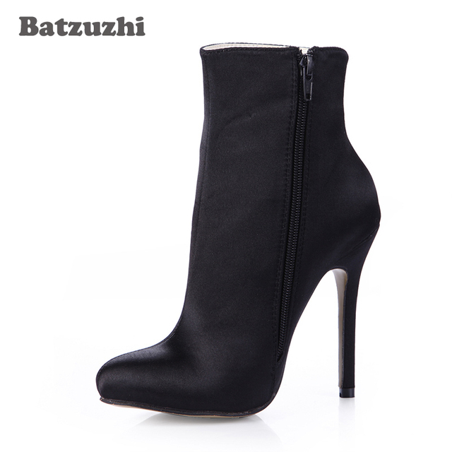 62c2812b1a5b Batzuzhi-Top Fashion Women Ankle Boots Poined Toe Black Suede Anke Boots  for Women Pointed Toe Botas Mujer