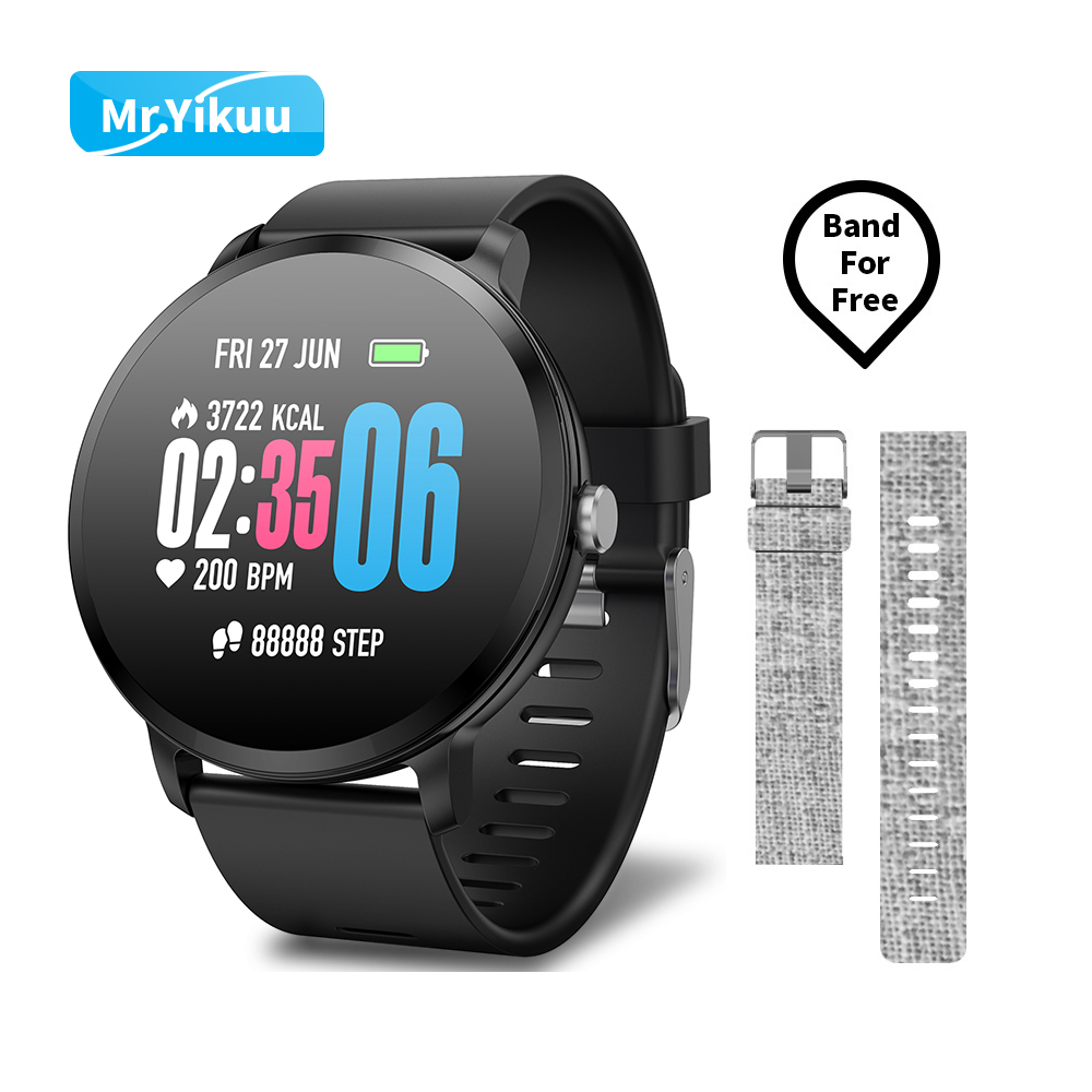 V11 Smart watch IP67 Activity Fitness tracker Heart rate monitor blood pressure Round Bracelet For IOS Android Phone Bracelet colmi v11 smart watch ip67 waterproof tempered glass activity fitness tracker heart rate monitor brim men women smartwatch