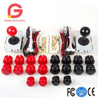 2 Player Arcade Game Kit Parts USB Pc Joystick For Mame Game DIY Zero Delay USB Encoder + 2x 5pin 8 Way Stick + 20 Push Buttons