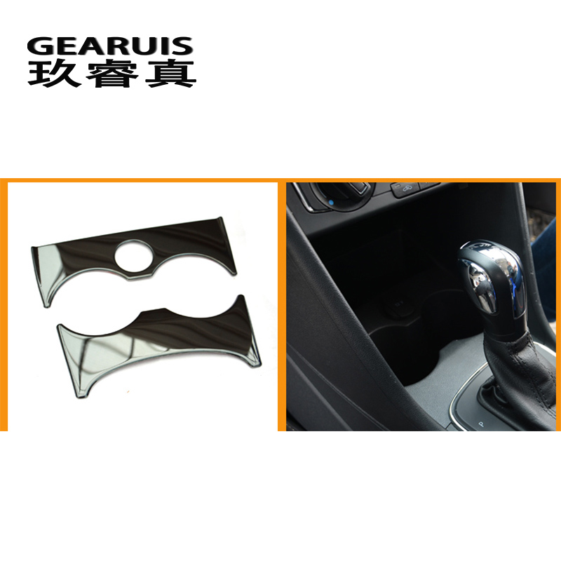 Автомобильный Стайлинг для Volkswagen vw POLO 2011- держатель для стакана воды панель декоративная отделка наклейки покрытие интерьера авто аксессуары - Название цвета: Black