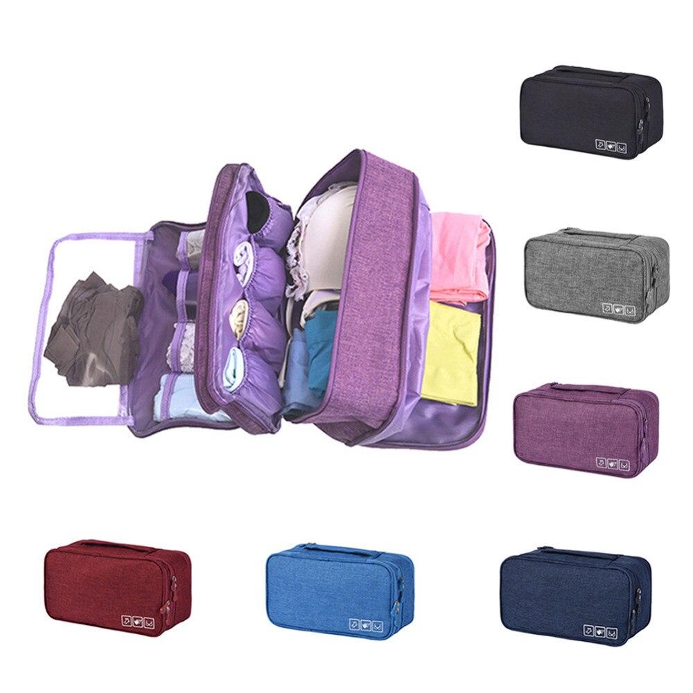 Waterproof Underwear Bra Storage Box Outdoor Portable Travel Socks Briefs Clothing Storage Bag Organizer Polyester Bra Case