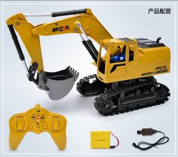 1:24 RC Car 2.4G 8CH RC Excavator Construction Vehicles Hook Machine Model RC Car Toys Kids Children Gifts