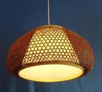EMS Vintage decoration bamboo lantern bamboo lamp cover pendant light coffee ZB4283