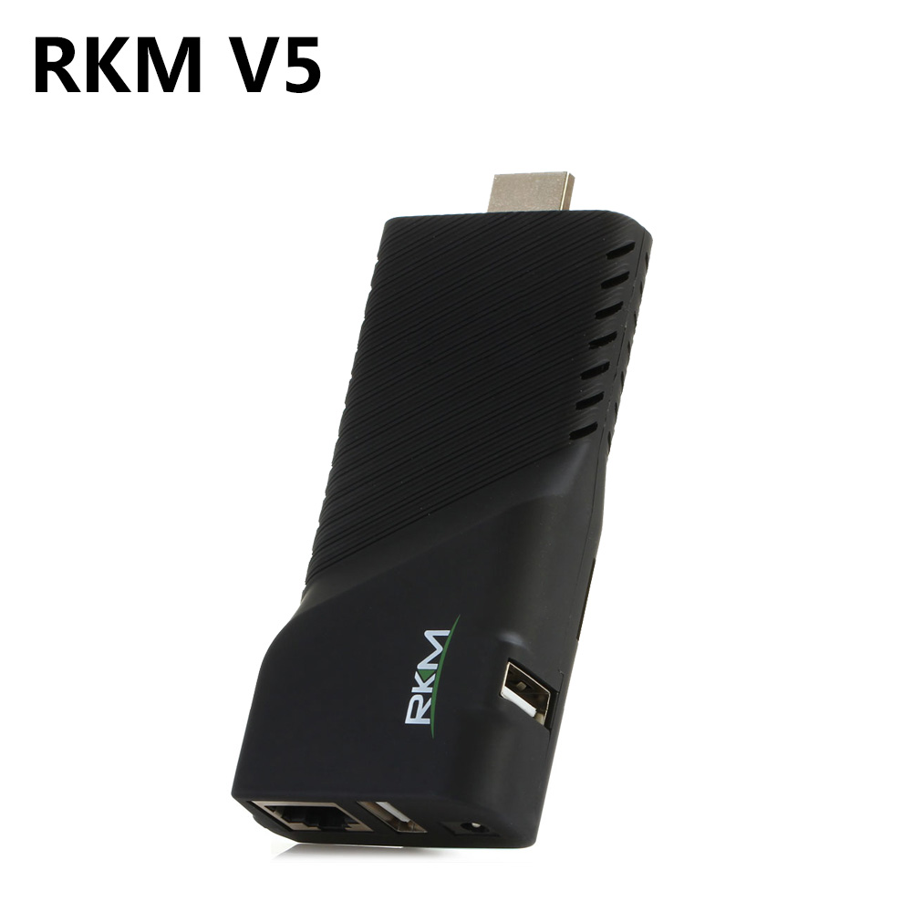 Android 4.4 Rikomagic RKM V5 RK3288 Quad Core TV Stick Box 4K*2K WiFi H.265 Bluetooth 4.0 Smat Mini PC Support HDMI TF Card RJ45 rikomagic rkm mk06 tv set top box amlogic s905 quad core android 5 1 1gb 8gb 2 4g wifi bluetooth 4 0 smart media player tv box