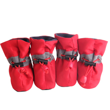 Для питомцев, зимний, теплый Обувь для собак, весна-осень, противоскользящие водонепроницаемые ботинки, однотонные, эластичные, дышащие нейлоновые туфли для собак