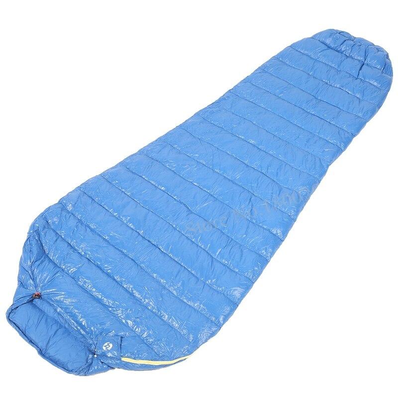 Aegismax M2 Allongé Blue Wing Momie Sac de Couchage Ultra-Léger En Duvet D'oie Blanche En Plein Air Camping Randonnée Saco de dormir 200 cm * 86 cm