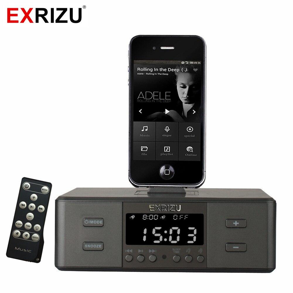 D9 Smart Зарядное устройство док-станции NFC Bluetooth стерео Динамик FM радио двойной Будильник дистанционного Управление Экран для iPhone, Android
