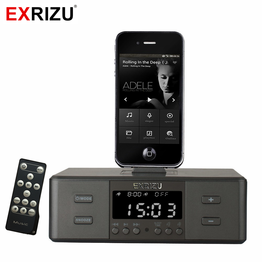 D9 Smart Charger Dock Station NFC Bluetooth Stereo Speaker FM Radio Dual Alarm Clock Remote Control Screen for iPhone Android lcd digital fm radio alarm clock music touch station bluetooth stereo speaker for iphone 5 5s iphone6s 7