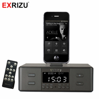 D9 Smart Charger Dock Station NFC Bluetooth Stereo Speaker FM Radio Dual Alarm Clock Remote Control
