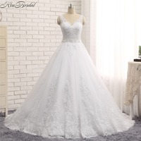 Custom Made Sleeveless Wedding Dresses A Line Cheap Vintage Lace Bridal Gowns Sexy Backless Vestidos Largos