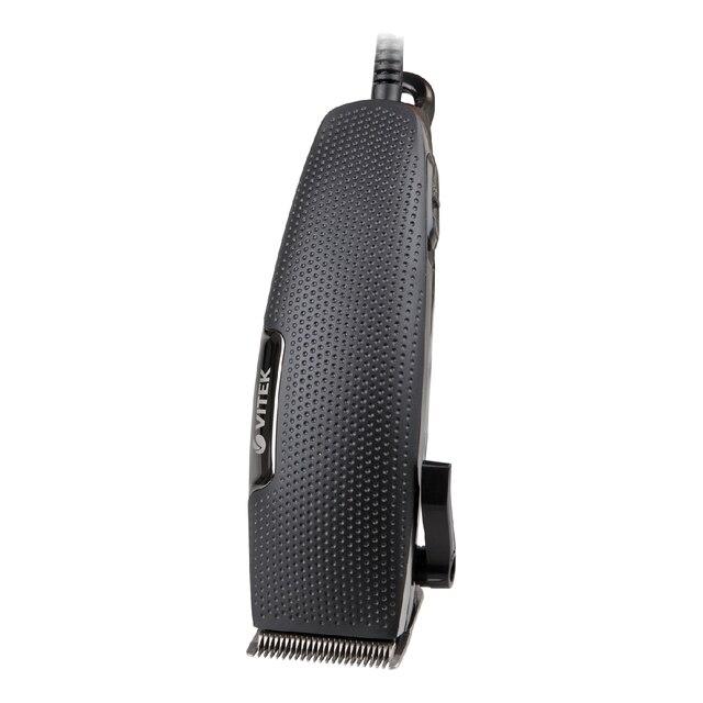 Набор для стрижки Vitek VT-2520(BK) (Лезвия из стали, длина при стрижки от 3 до 12 мм, в комлекте - ножницы, расческа, щётка для чистки, масло, 4 насадки)