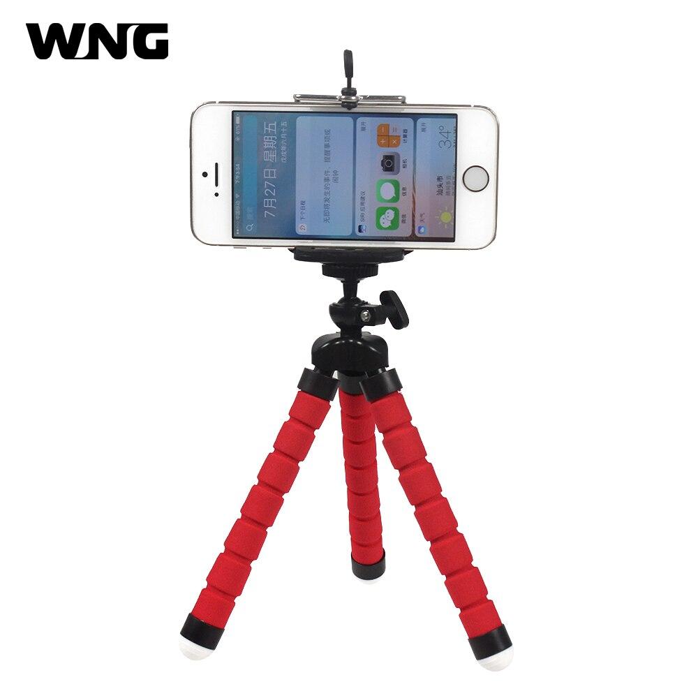 Flexible esponja pulpo trípode Clip monopié soporte para iPhone Samsung Smartphone Mini trípode soporte para Gopro accesorio de cámara