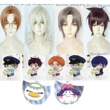 SARAZANMAI Jinnai Enta Akutsu Mabu Yasaka Kazuki Reo Niiboshi Anime Hair Cosplay Costume wig Game Role key ring stand plate Gift сабо mabu