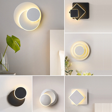 LED wall lamps Nordic style bedroom lights living room lighting indoor warm white light and cold
