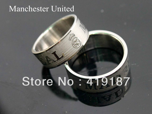 Milano Stainless Steel Ring.Promotion Sale Inter Milan Fc Stainless Steel Ring Seling Fans