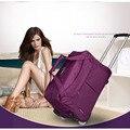 Moda Travelbag Turismo Mujeres Y Hombres Bolsas de Viaje Bolsa de Viaje Trolley Con Ruedas Rodando Equipaje de mano Bolsas de Bolsas de Ruedas