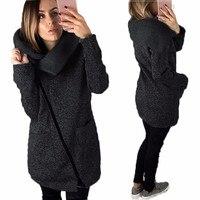 MUQGEW Venda Quente Das Mulheres Jaqueta Casual Casaco Longo Zíper Camisola Outwear Tops jaqueta de inverno mulheres casaco manteau femme hiver