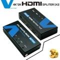 Voxlink 1080 p hd 1x2 hdmi splitter fora 4 k * 2 k 3d 1 em 2 hdmi switcher conversor com adaptador de energia