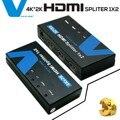 Voxlink 1080 p hd 1x2 hdmi splitter fuera 4 k * 2 k 3d 1 en 2 hdmi switcher convertidor con adaptador de corriente