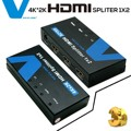 Voxlink 1080P HD 1x2 HDMI Splitter Out 4K*2K 3D 1 In 2 HDMI Switcher Converter  with power adapter