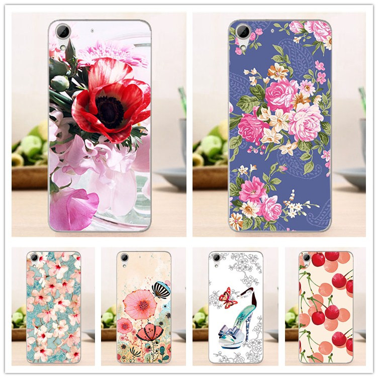 For HTC 626 Cases High Quality Diy UV Painting Colroed Flowers Fruit Hard PC Case For HTC Desire 626 626G 626G+ 5.0 Cover Sheer